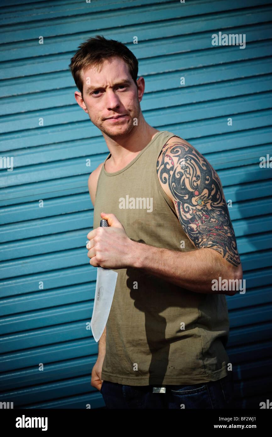 Dagger Tattoo Stock Photos & Dagger Tattoo Stock Images - Alamy