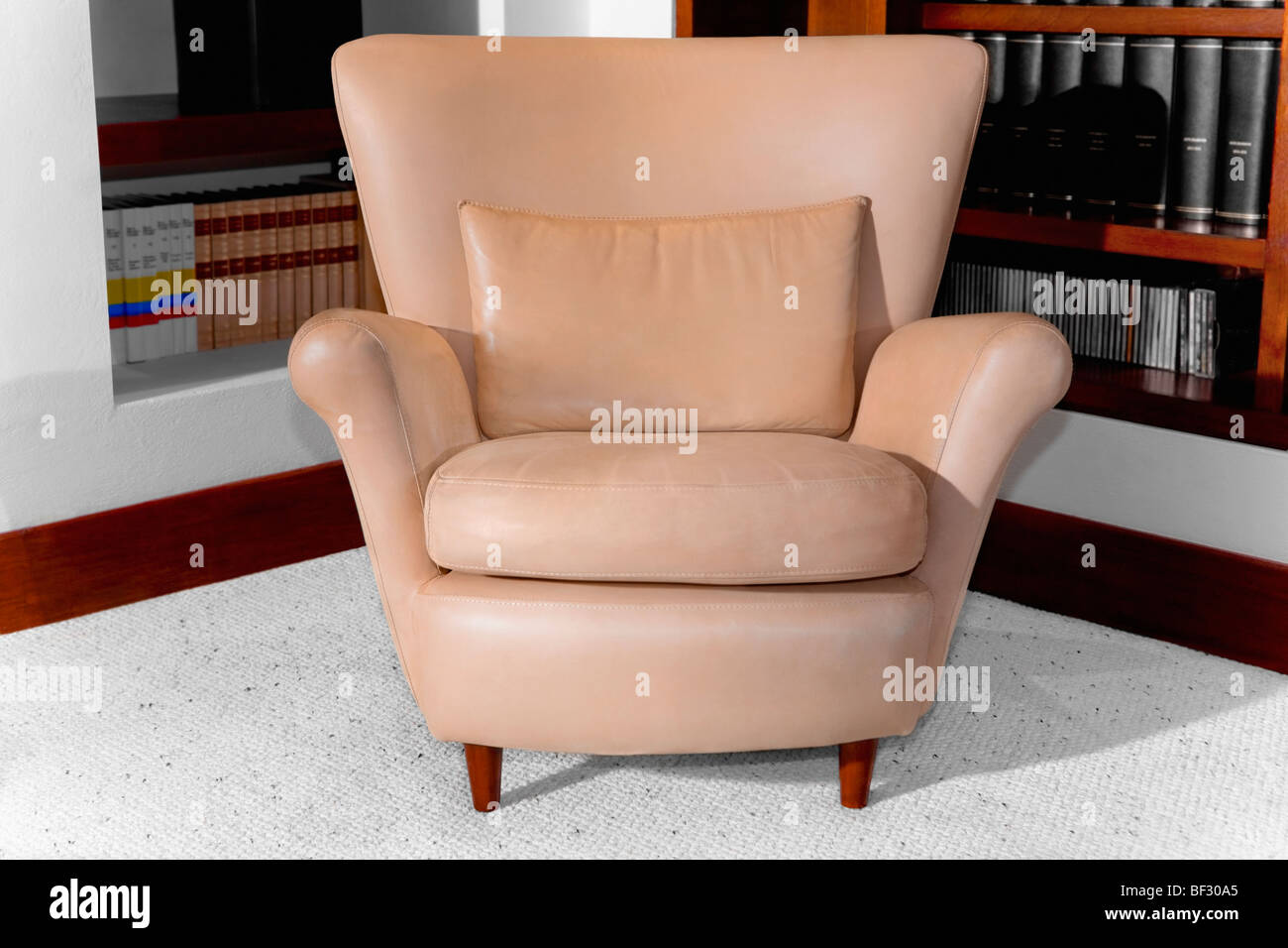 Armchair in a living room - Stock Image