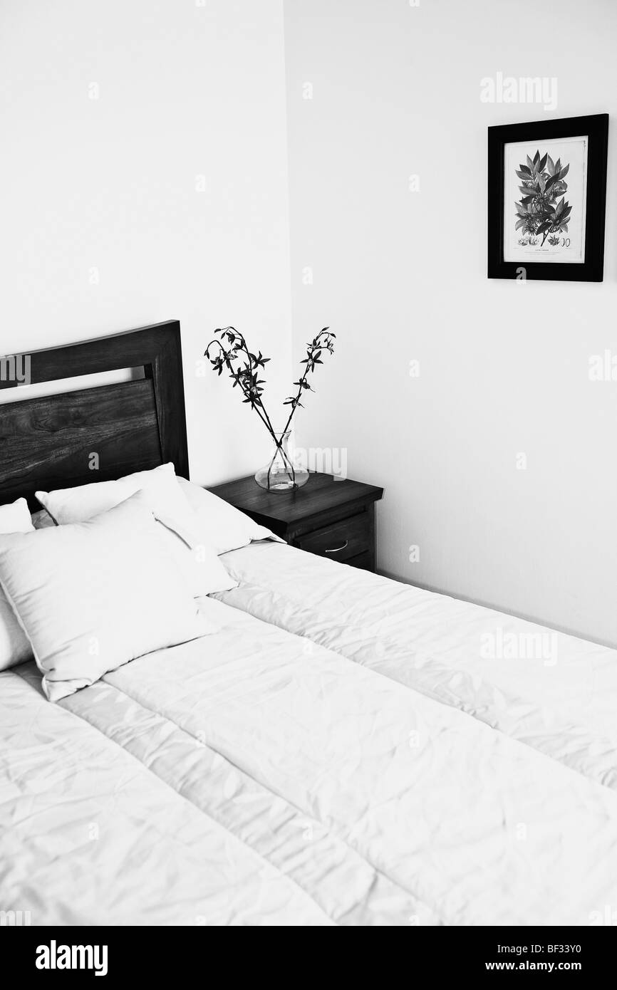 Interiors of a bedroom - Stock Image