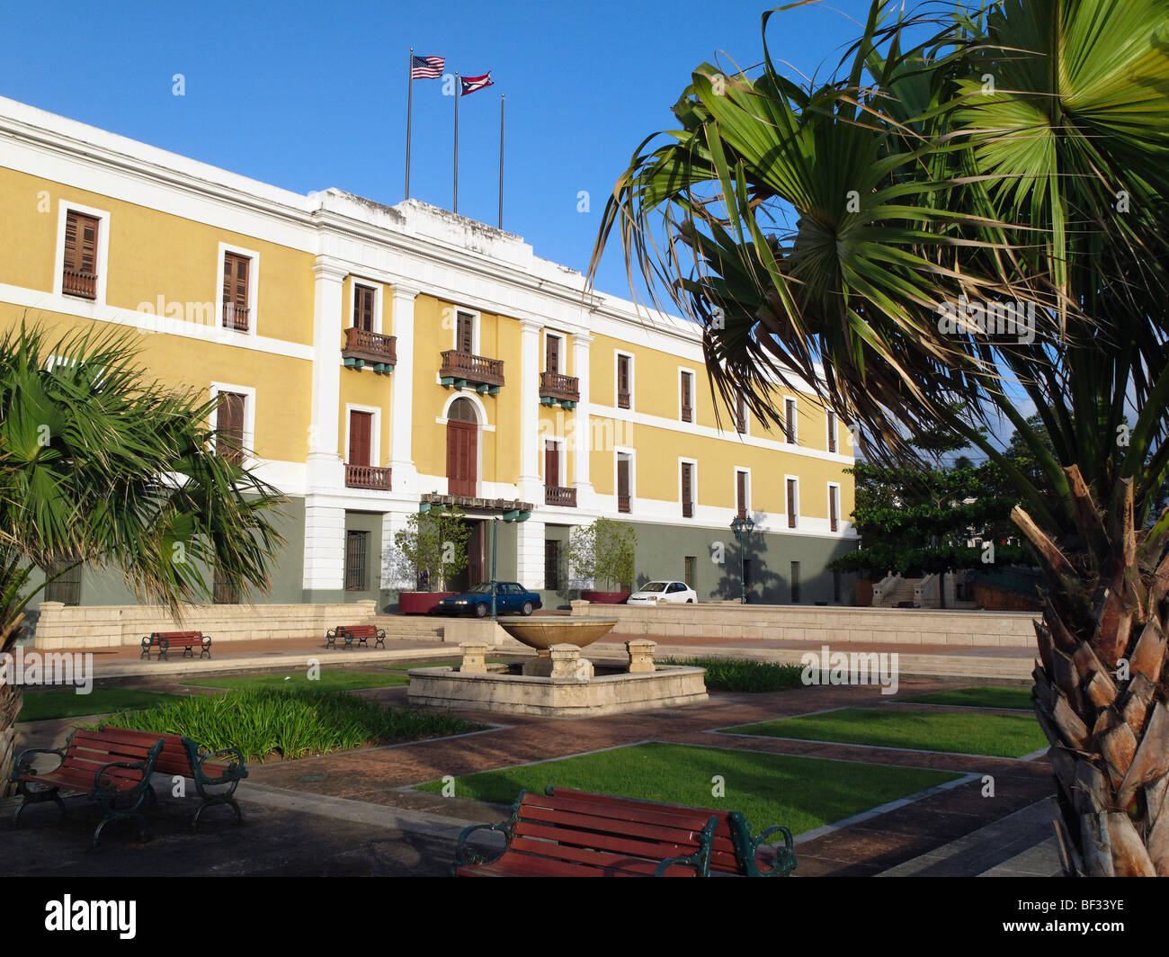 View of the Entrance of the Ballaja Barracks,. Old San Juan, Puerto Rico - Stock Image