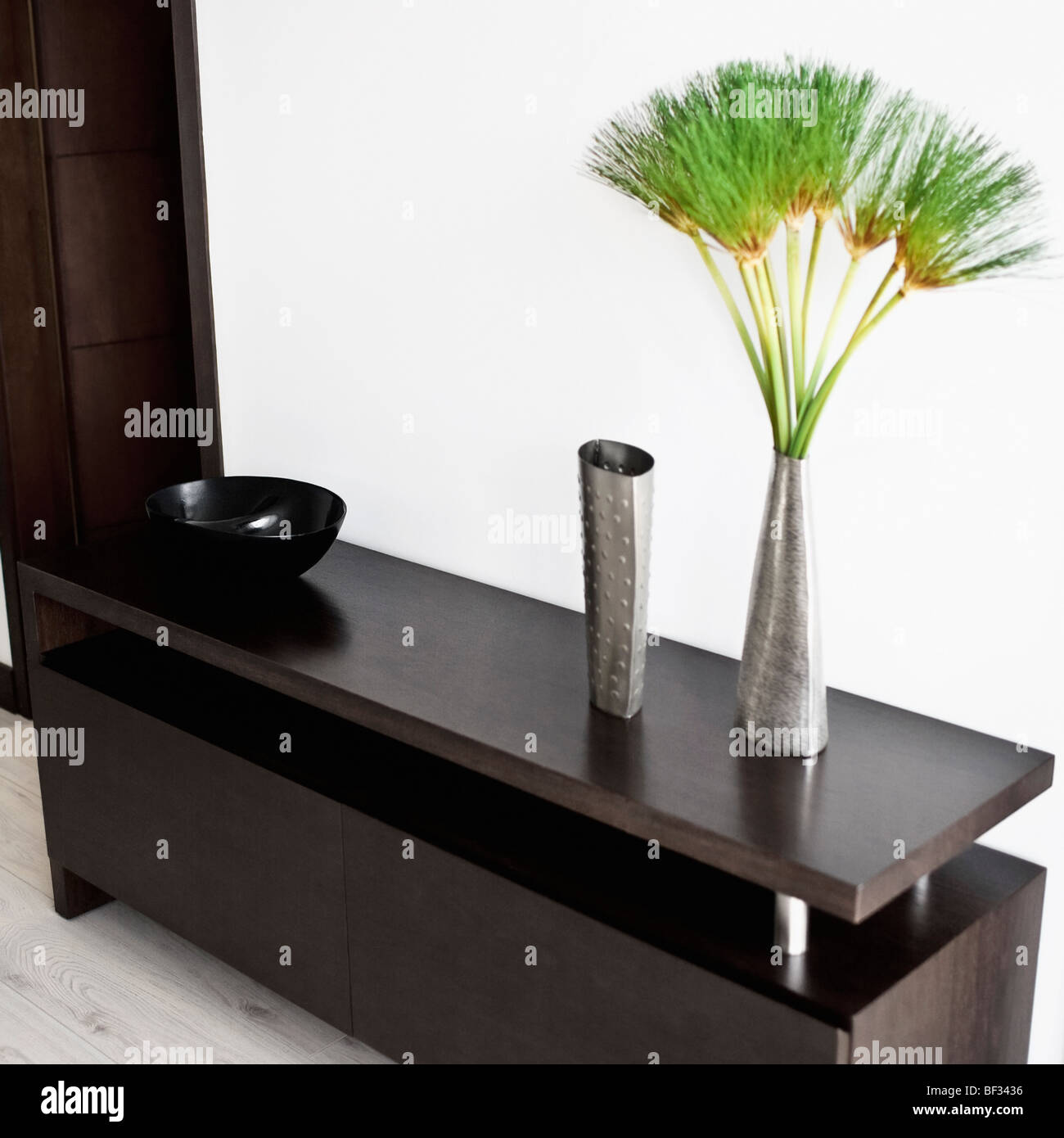 Showpieces on a sideboard Stock Photo