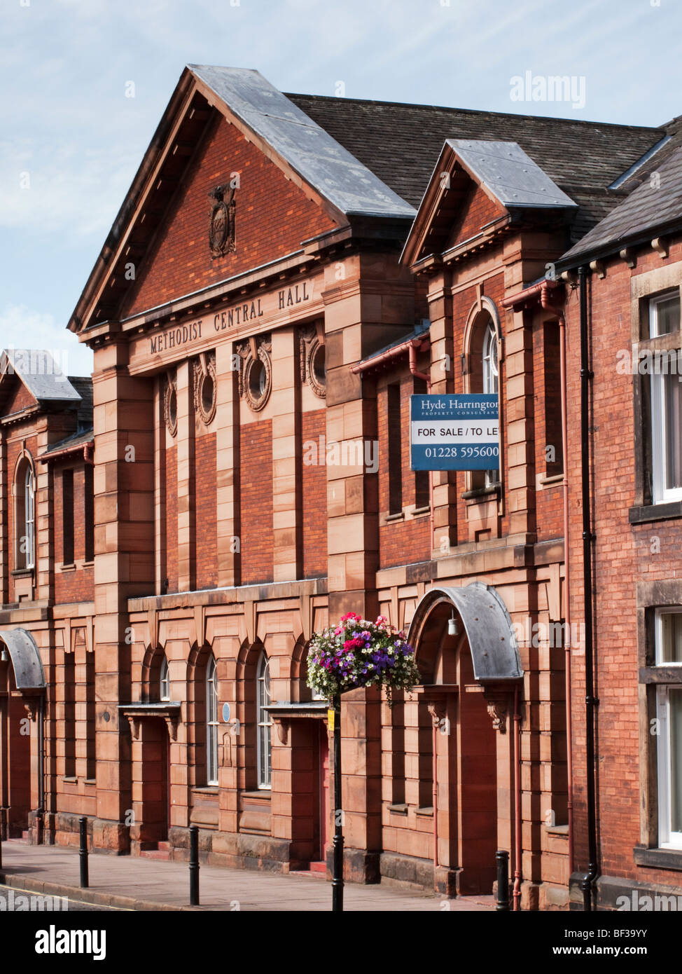 The Methodist Central Hall on Fisher Street in the Cumbrian town of Carlisle - Stock Image