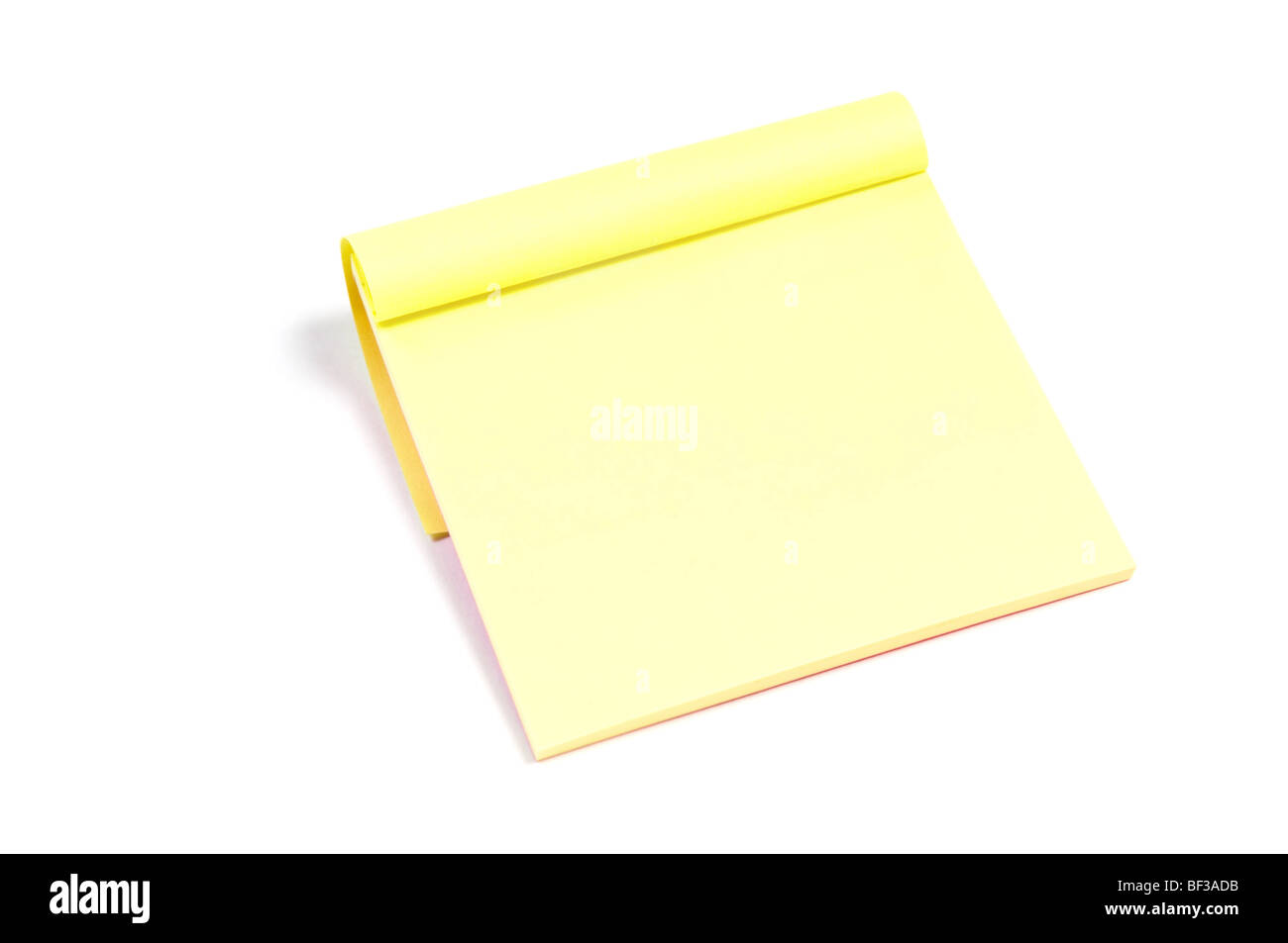 Sticky note paper pad isolated on white - Stock Image