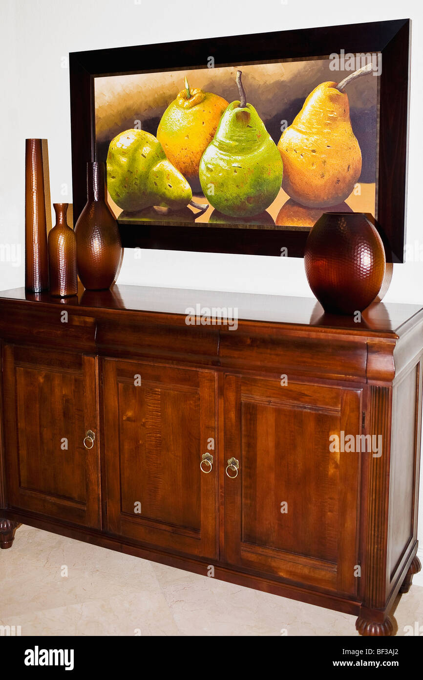 Showpieces on a sideboard - Stock Image