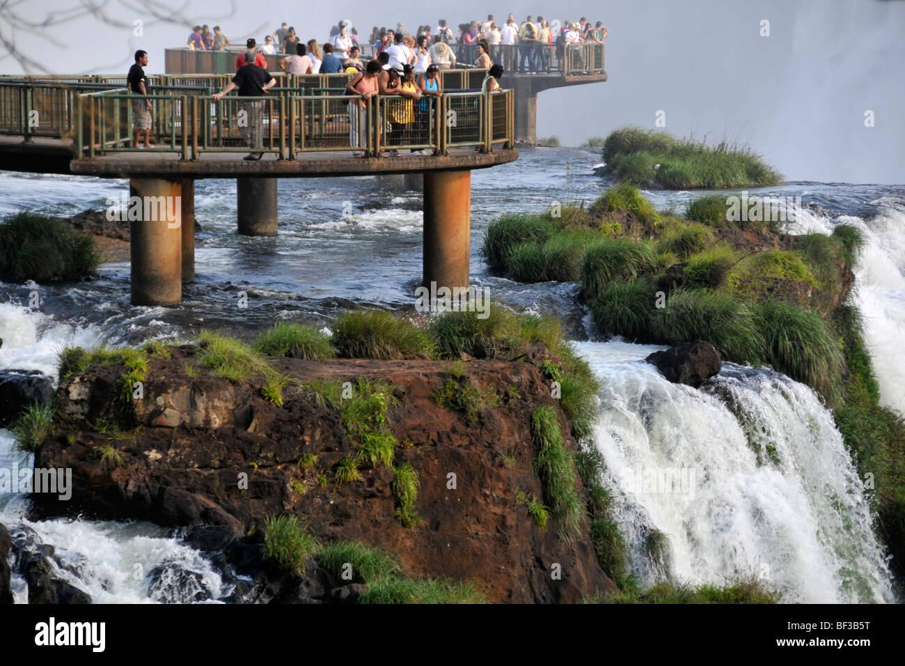 Iguazu Falls, Foz do Iguacu, Parana, Brazil - Stock Image