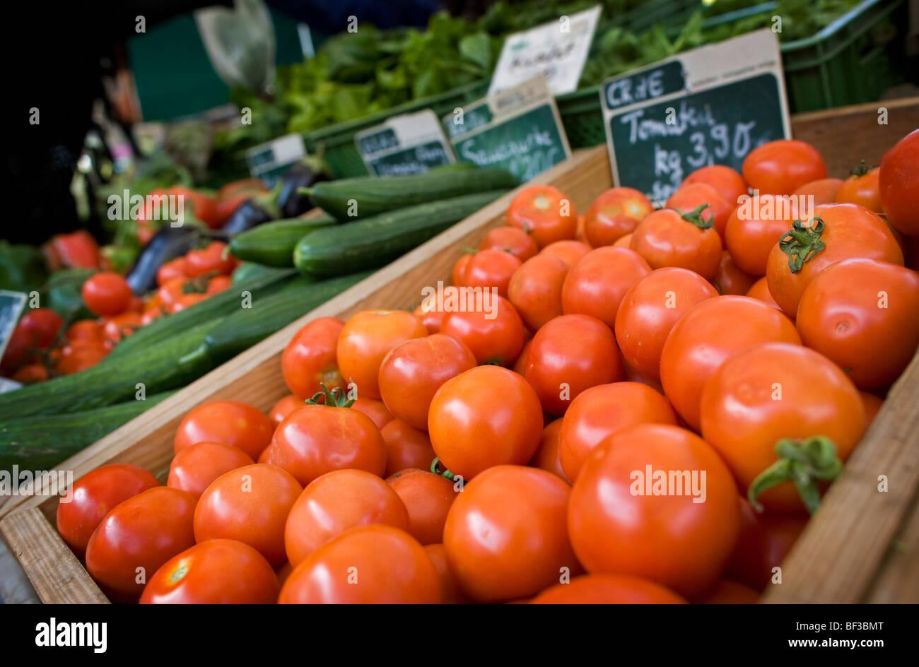 Vegetables on a farmer's market . - Stock Image