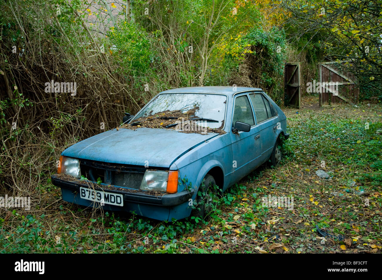 An Abandoned Car. - Stock Image