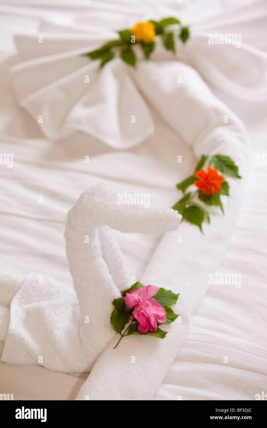 Towel Art Bed Stock Photos Towel Art Bed Stock Images Alamy