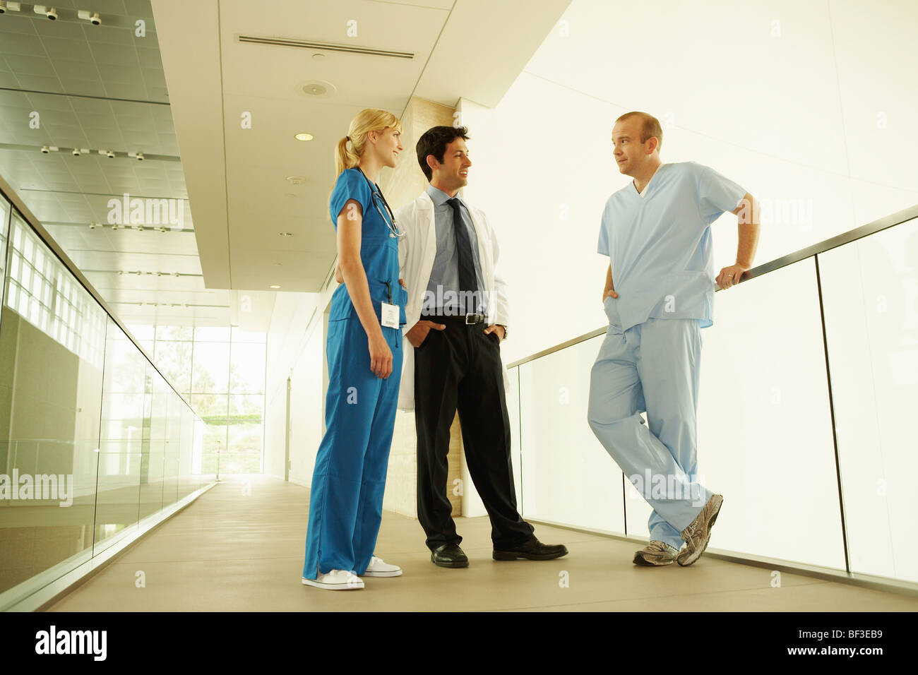 Medical personnel in modern facility Stock Photo
