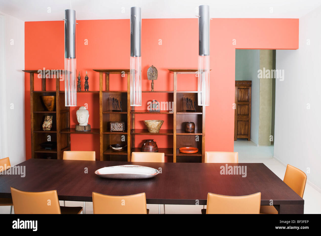 Interiors of a dining room - Stock Image