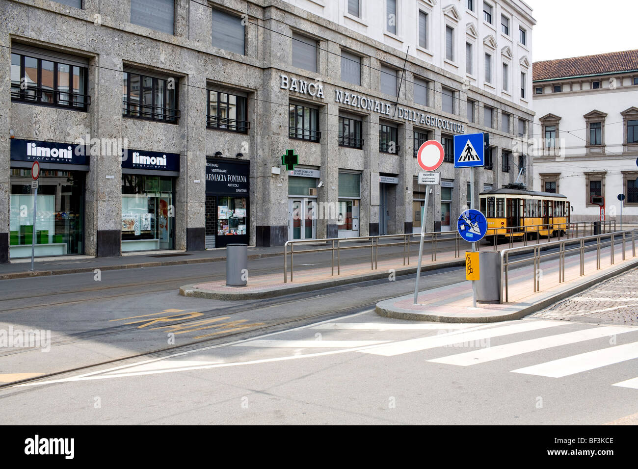 Fontana square Milan Italy where on December 12 1969 a terrorist attack happened - Stock Image