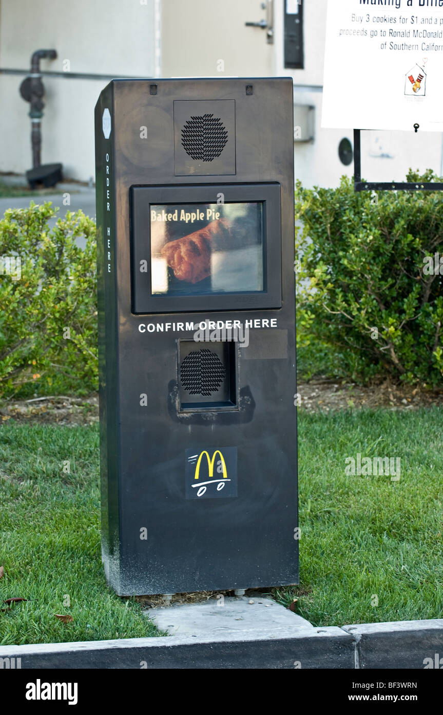 Drive Through Electronic Order System At A Fast Food