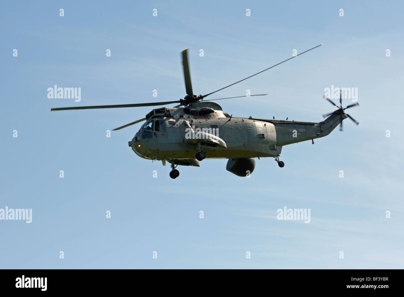 The Sea King helicopter is manufactured by AgustaWestland in the UK. - Stock Image