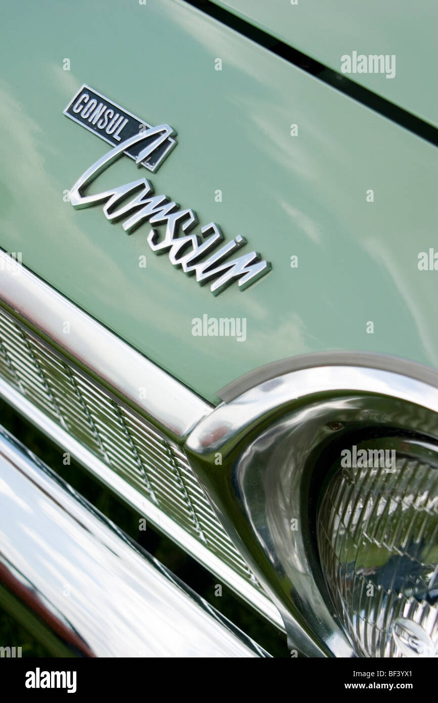 Name badge of Ford Consul Corsair - Stock Image