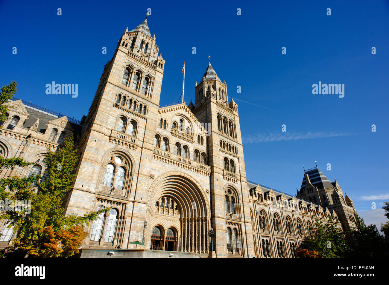 Waterhouse building of the Natural History Museum front entrance. London. UK 2009. - Stock Image