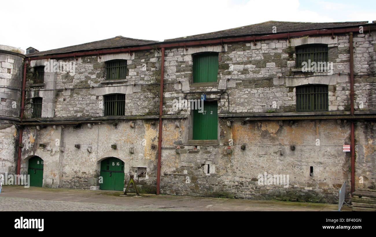 Old warehouses in Cork Port . Ireland - Stock Image