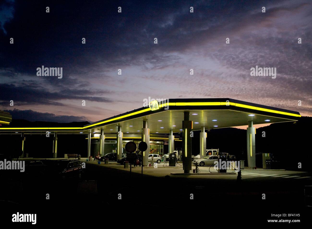 Agip petrol station - Stock Image