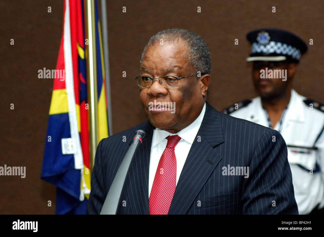 Dr Barnabas Sibusiso Dlamini, Prime Minister, Swaziland - Stock Image