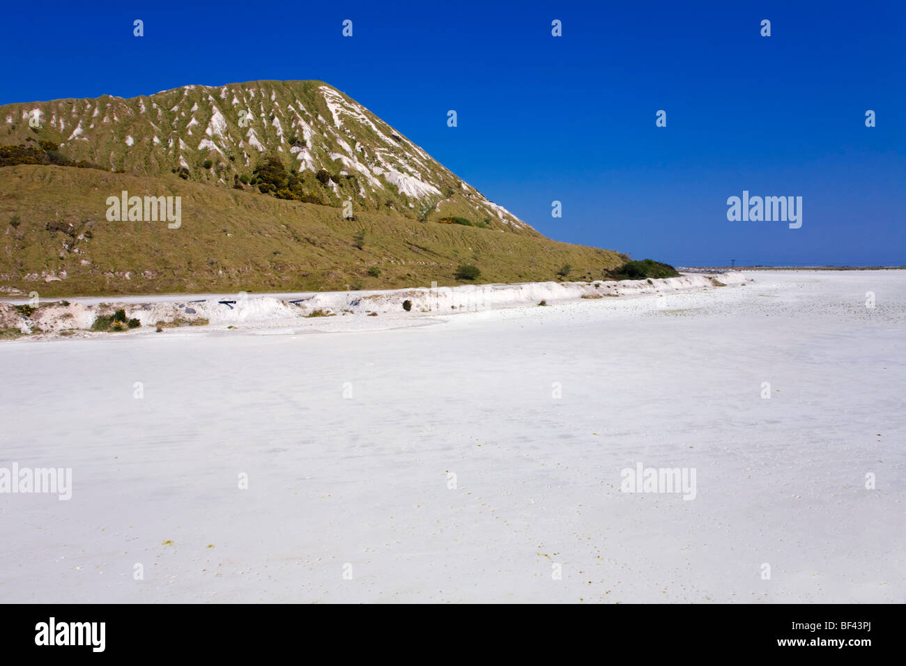 China clay waste and settling area; Cornwall - Stock Image