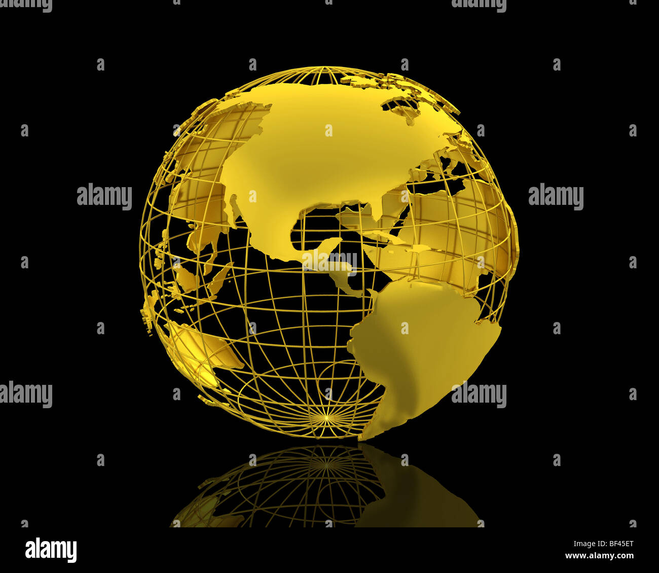 3d World Map Isolated Over A Black Background Stock Photo 26522352