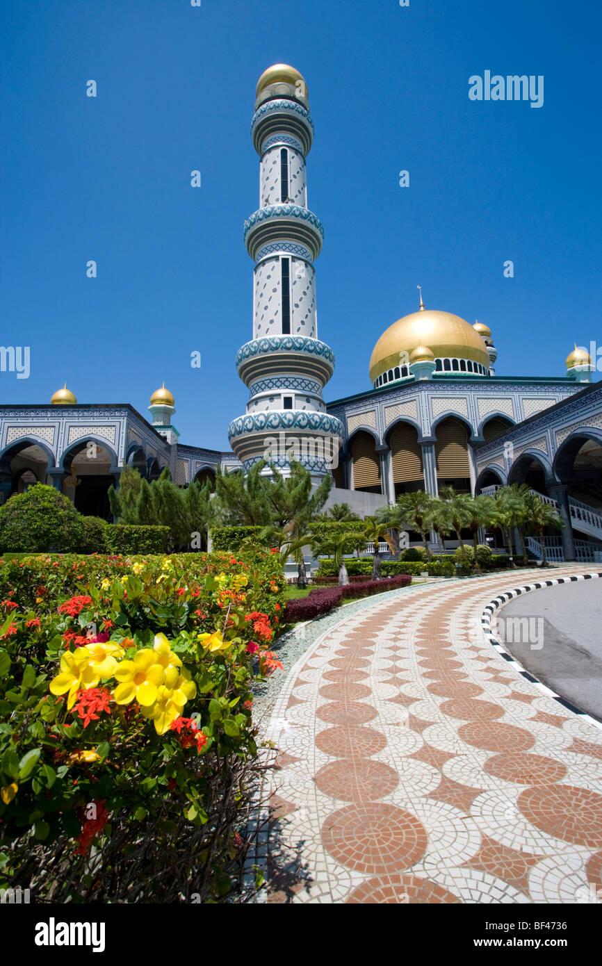 Jame'Asr Hassanil Bolkiah Mosque, Bandar Seri Begawan, Brunei Darussalam, Thursday, July 23, 2009. - Stock Image