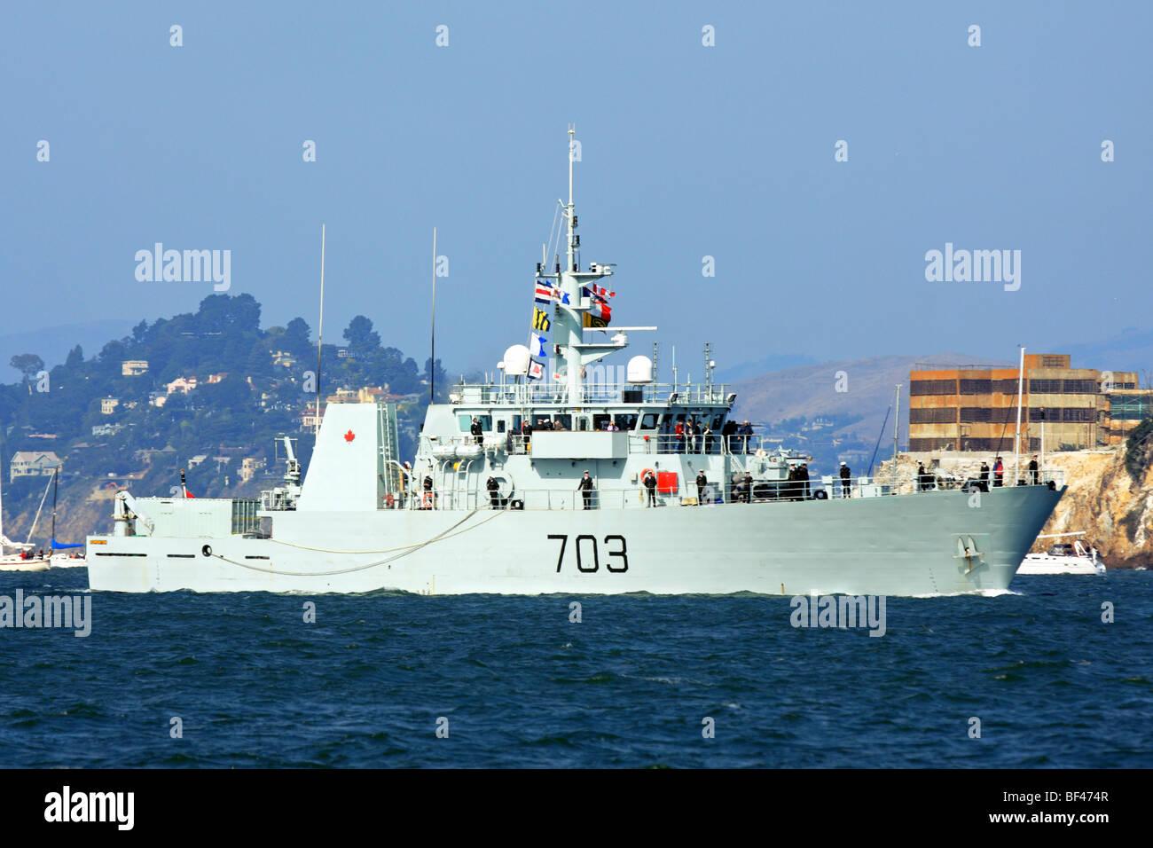 Canadian Navy Kingston class patrol Vessel HMCS Edmonton (MM