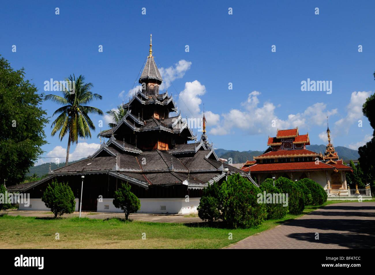 Thailand; Mae Hong Son; Wat Hua Wiang - Stock Image