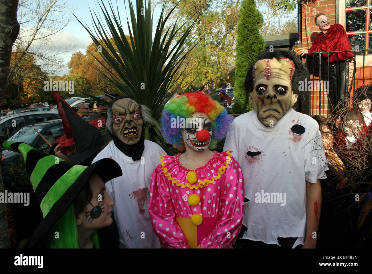 Halloween competition in Burley in the New Forrest Hampshire United Kingdom - Stock Image