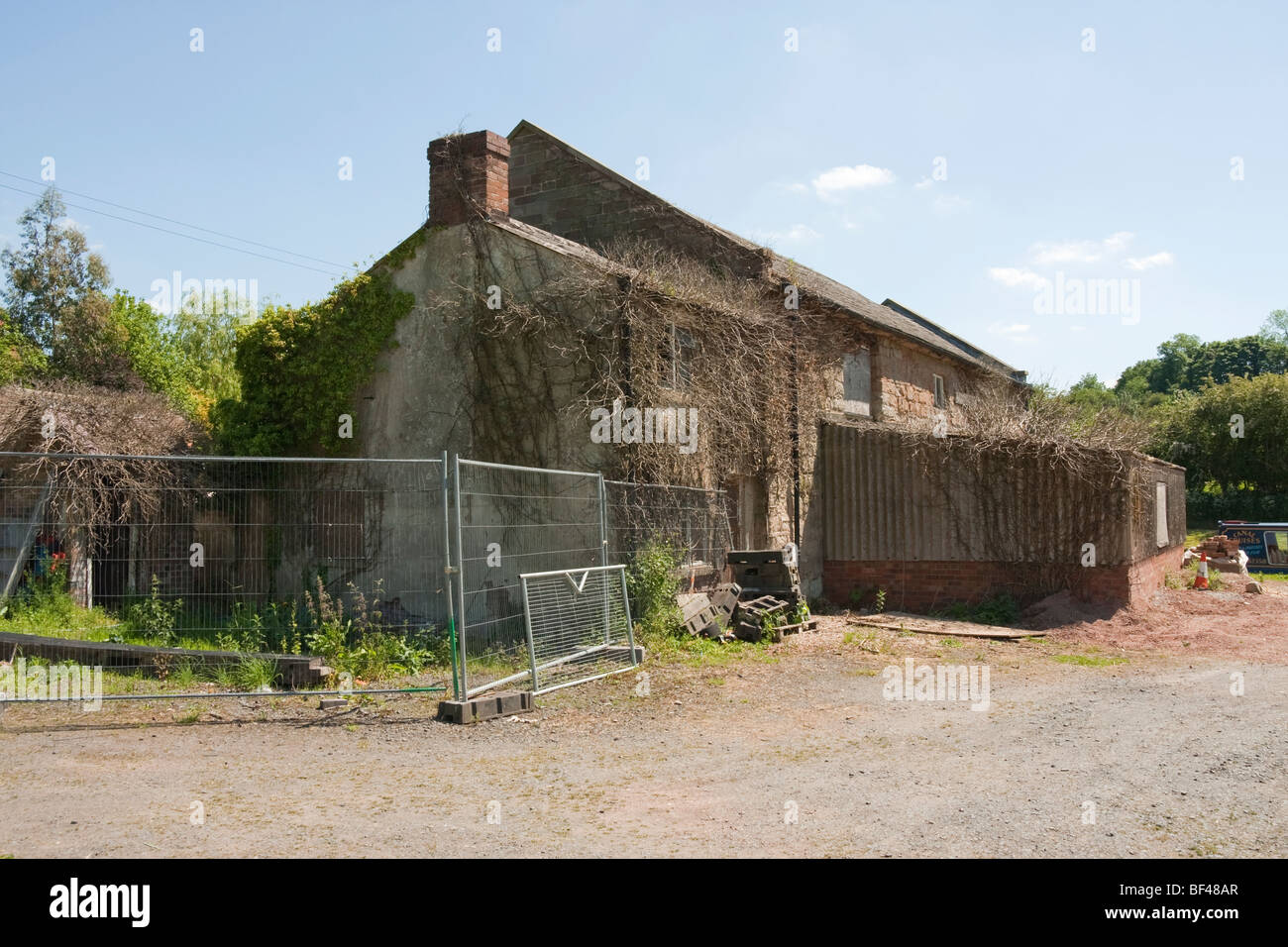 Old derelict building in need of some TLC - Stock Image