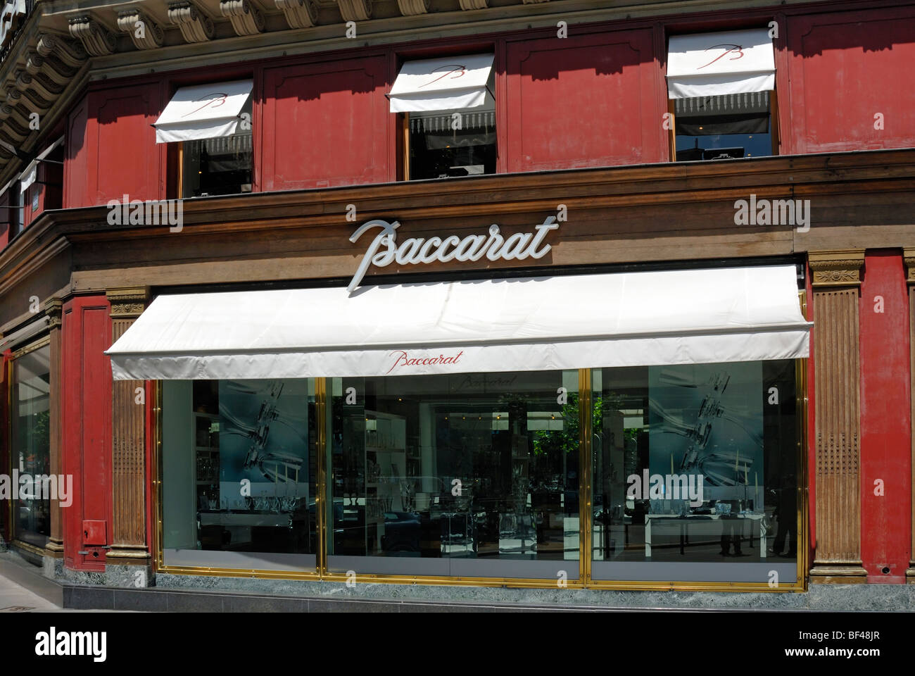 Baccarat flagship store, Paris, France - Stock Image