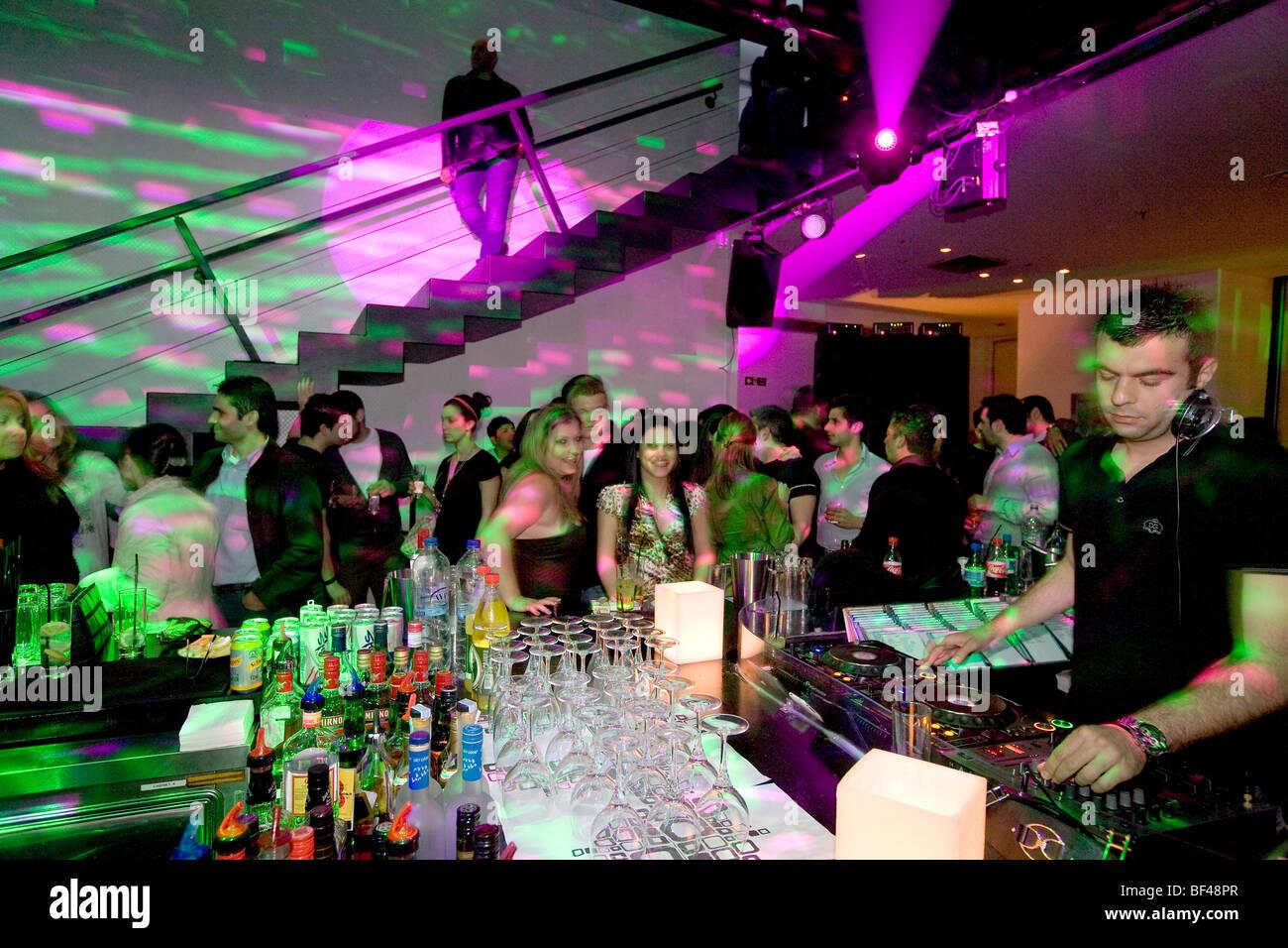 Trendy disco Zoo, dj, disc jockey, Nicosia, Cyprus, Greece, Europe - Stock Image