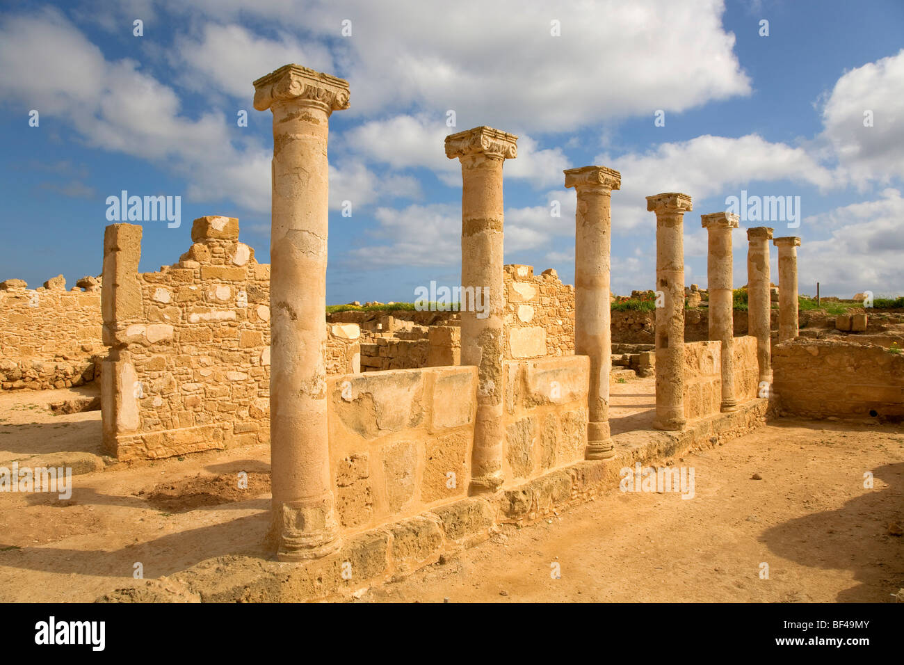 Archaeological site of Kato Pafos, UNESCO World Heritage Site, Paphos, Cyprus, Greece, Europe - Stock Image