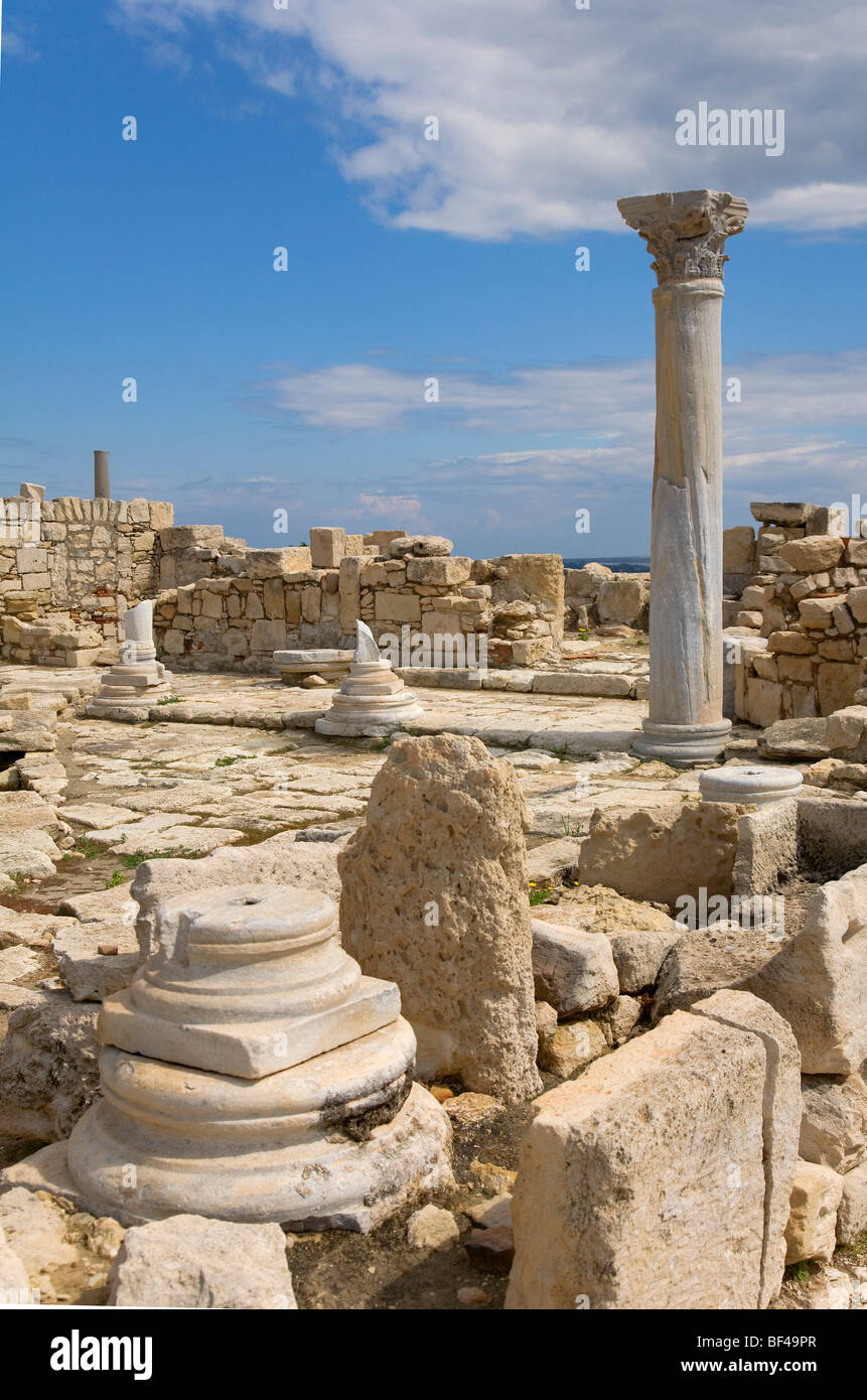 The archaeological site of Kourion, UNESCO World Heritage Site, Paphos, Cyprus, Greece, Europe - Stock Image