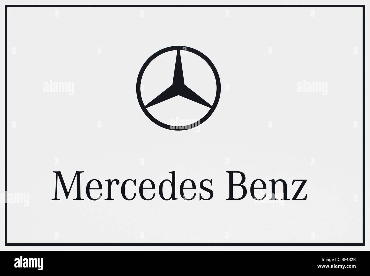 Mercedes Benz logo, Daimler AG - Stock Image