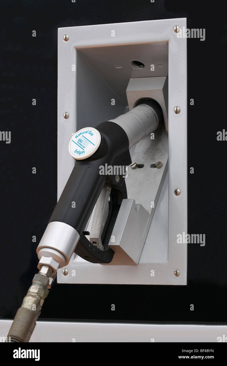 Gas tank pump, WEH refueling system for gas-powered cars - Stock Image