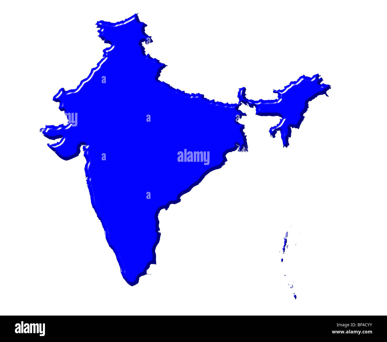 India D Map With National Color Stock Photo Alamy - World map in blue color