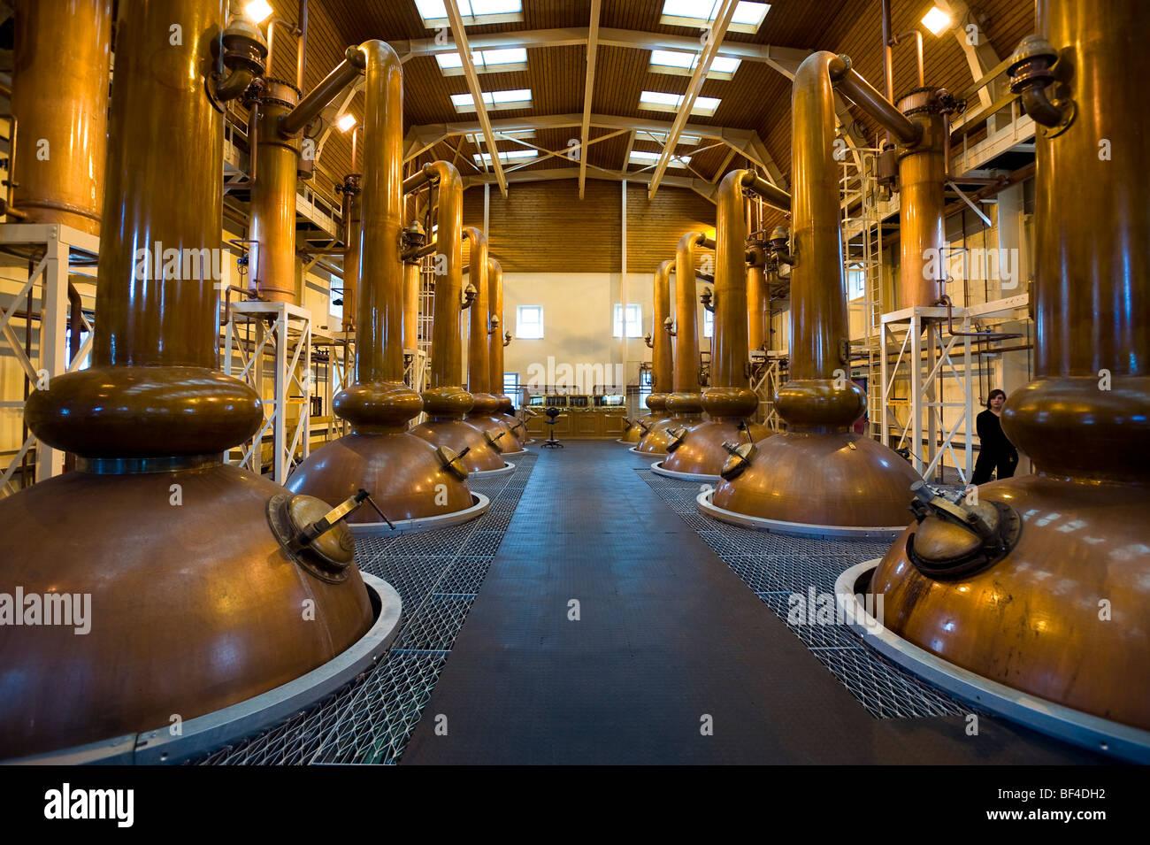 Glenmorangie, stills, Whiskey Distillery, Tain, Scotland, United Kingdom, Europe - Stock Image