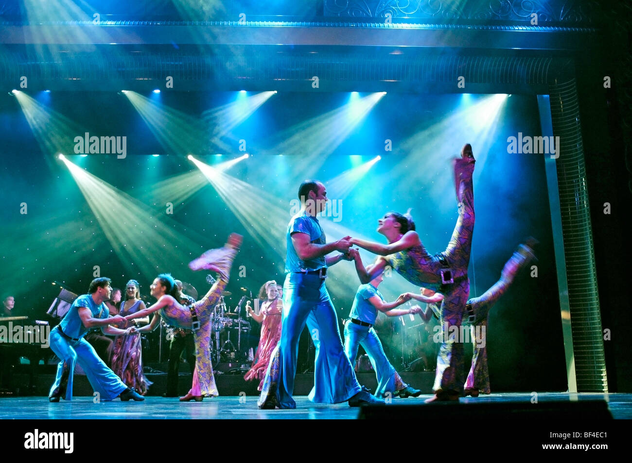 dancers performing on stage - Stock Image