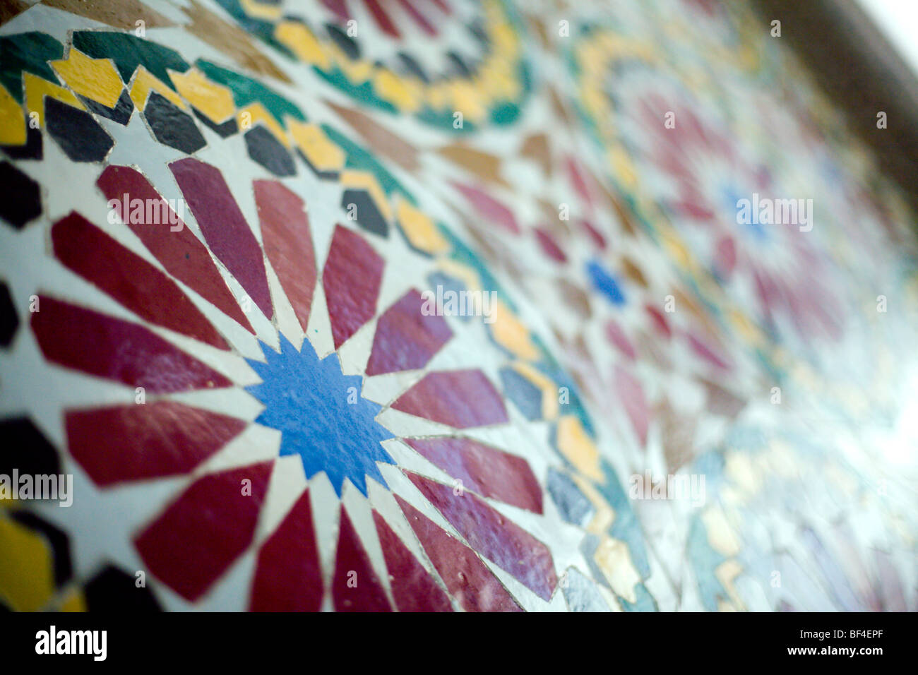Mosaic at the Hassan II Mosque in Casablanca - Stock Image