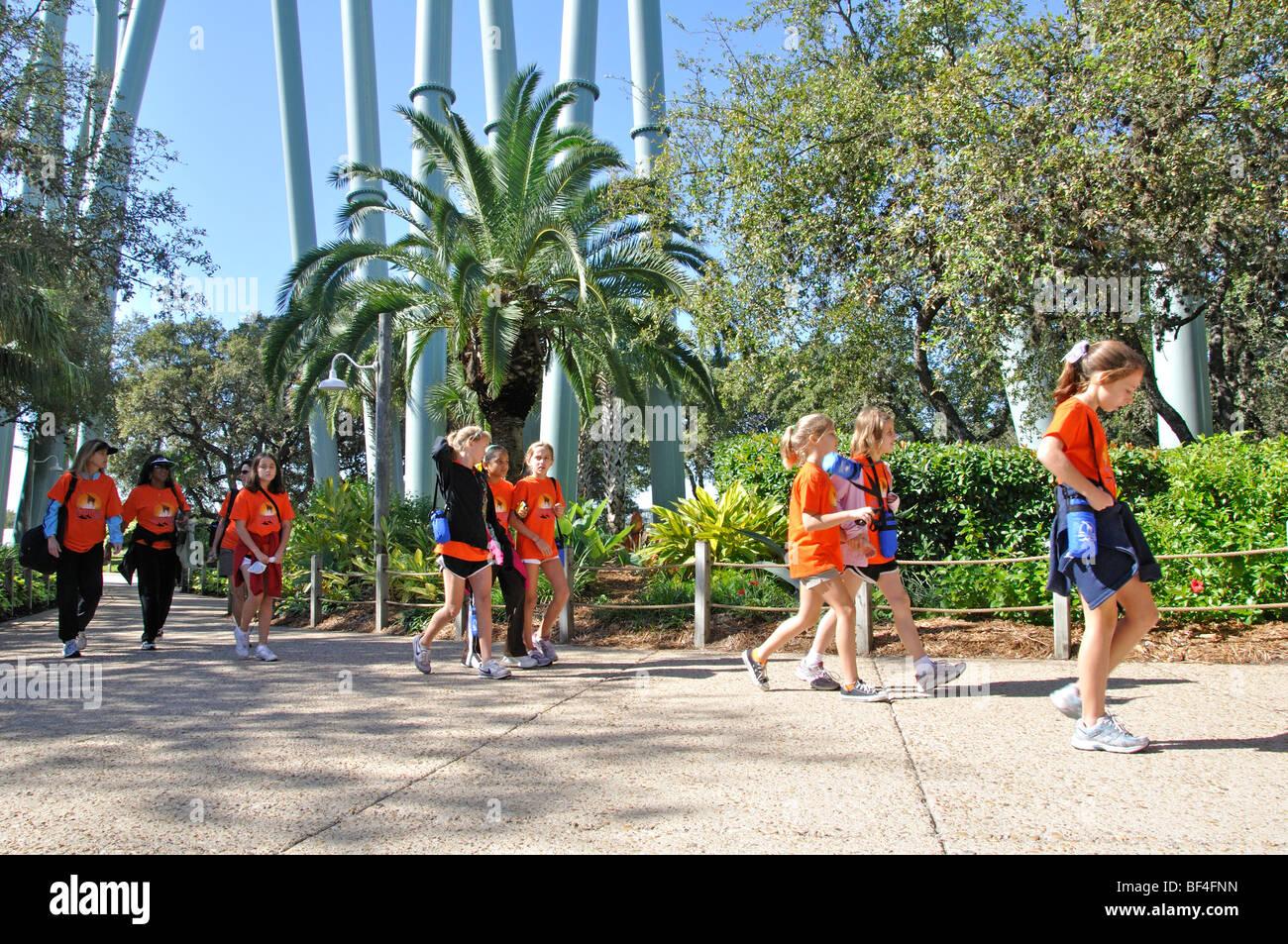 Schoolchildren at SeaWorld, San Antonio, Texas Stock Photo