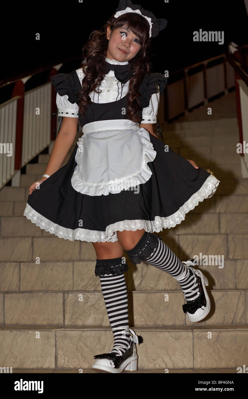 Girl In French Maid Outfit
