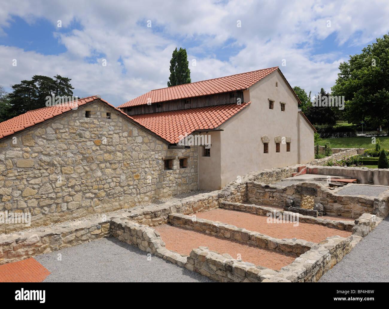 City palace reconstruction Villa Urbana, Carnuntum, Lower Austria, Austria, Europe - Stock Image