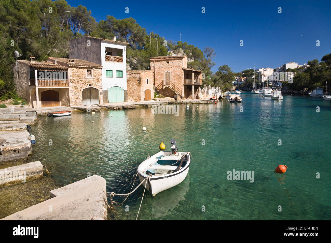 Harbour of Cala Figuera, Mallorca, Majorca, Balearic Islands, Mediterranean Sea, Spain, Europe Stock Photo