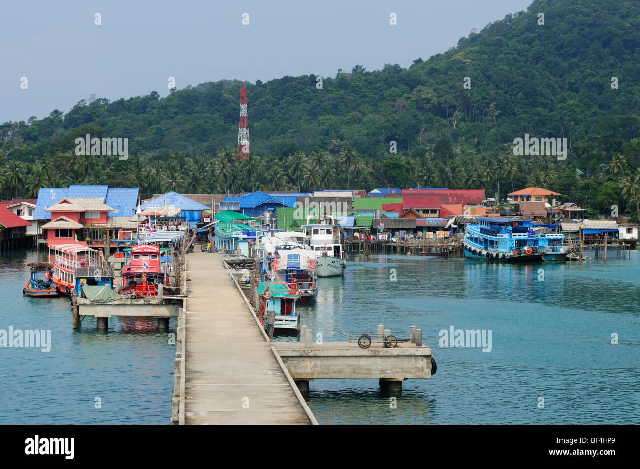 Thailand; Trat Province; Koh Chang; Bangbao; Stock Photo