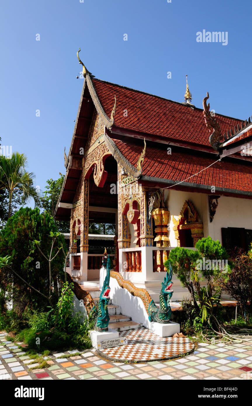 Thailand; Pai; Wat Phra That Mae Yen - Stock Image