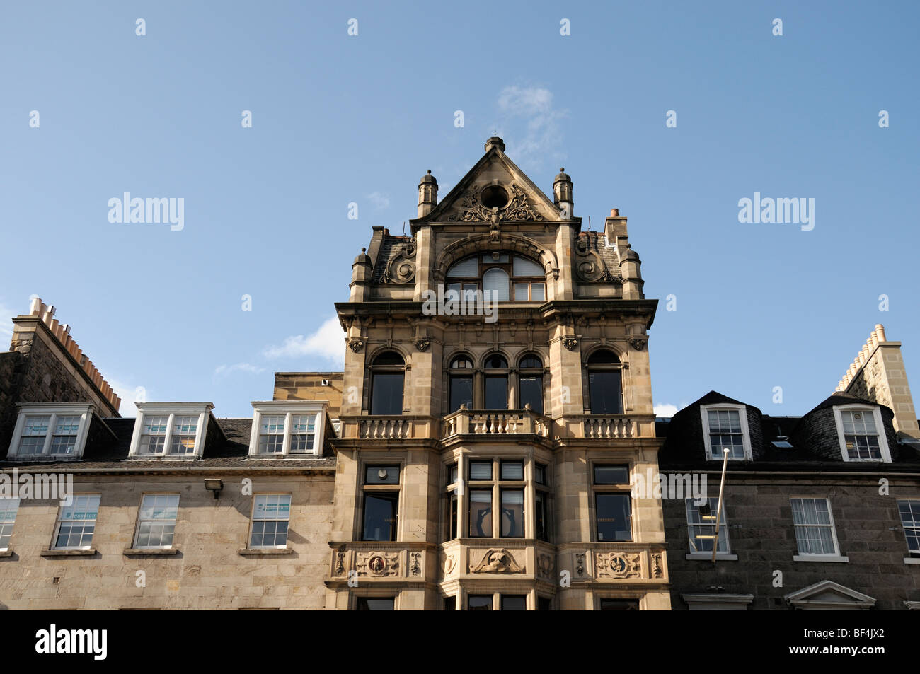 building front frontage facade edinburgh Scotland city centre historical architecture - Stock Image