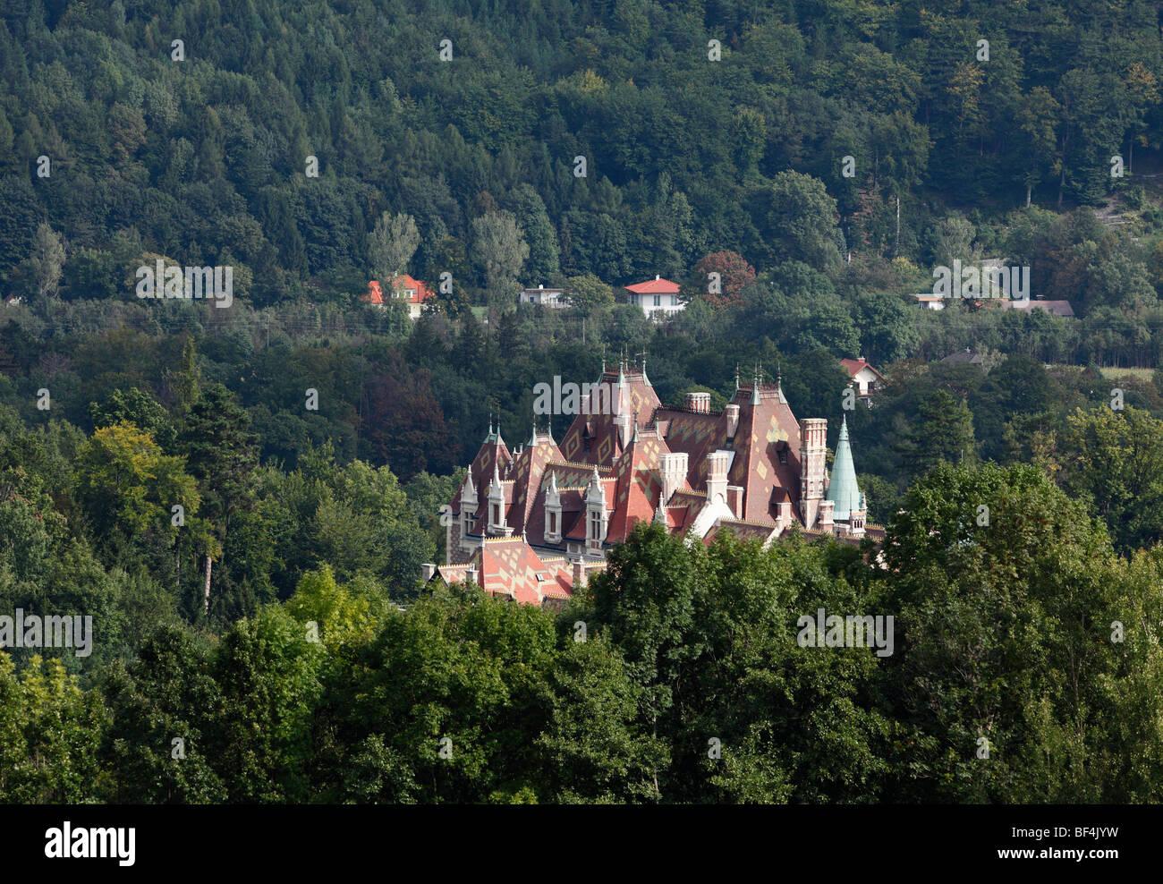 Schloss Rothschild Palace, Reichenau an der Rax, Lower Austria, Austria, Europe - Stock Image