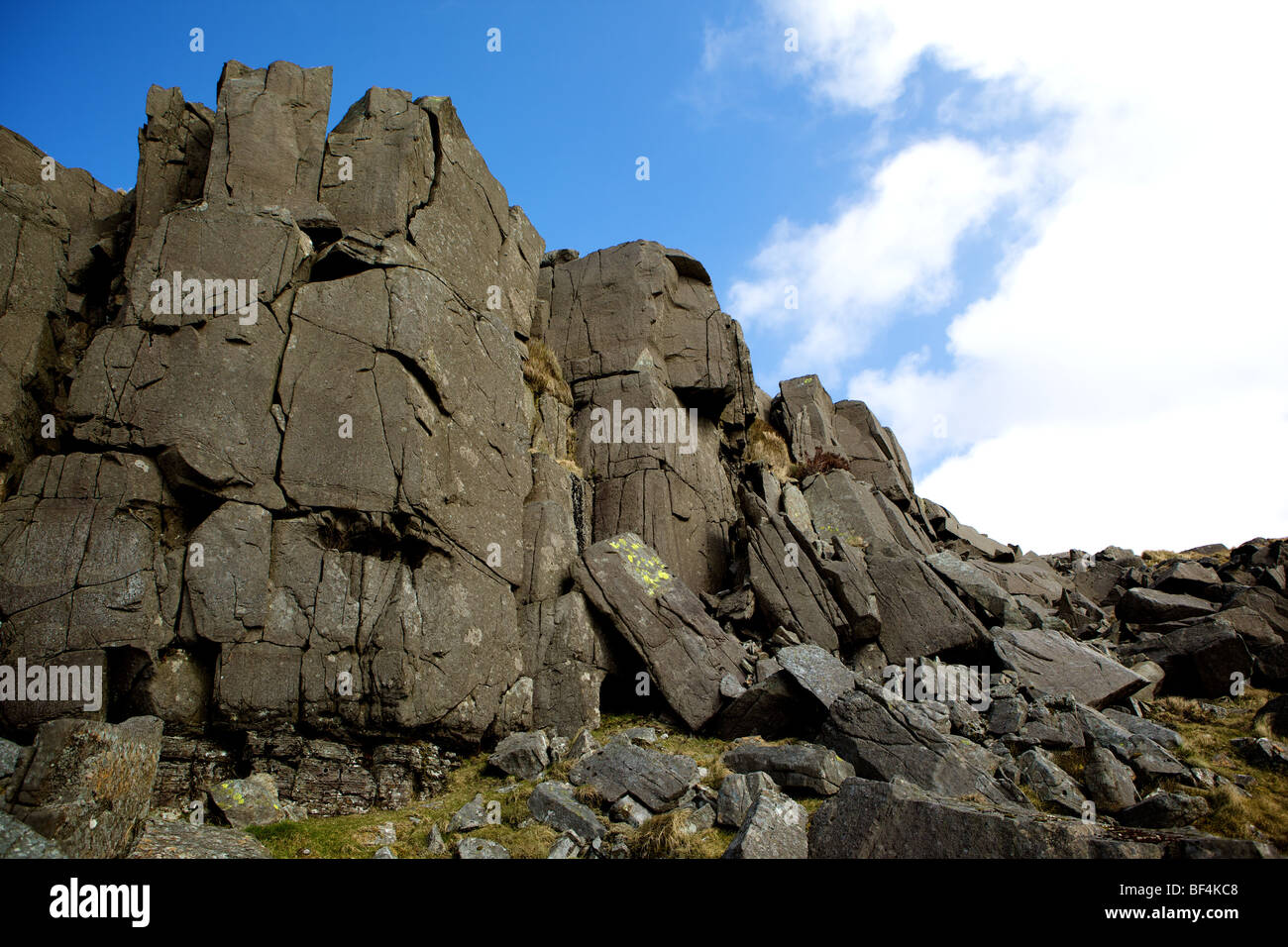 Rhinog Mountains in North Wales Stock Photo