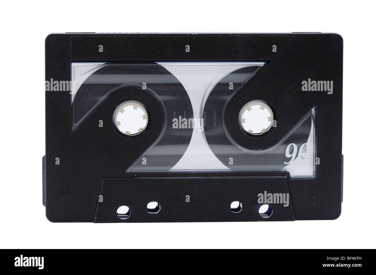 Music tape isolated over white background - Stock Image