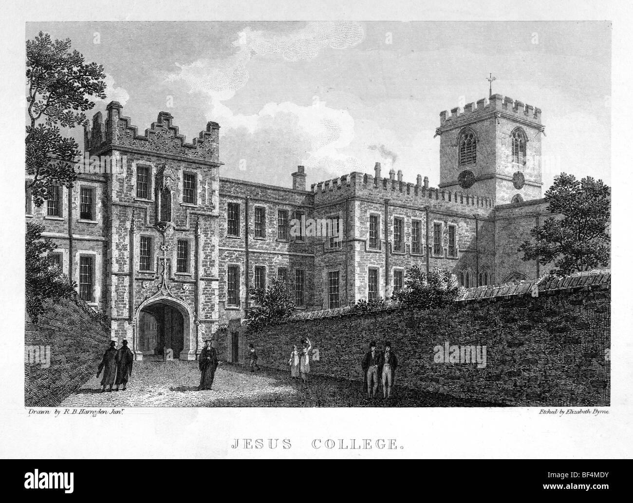Jesus College, Cambridge - Stock Image